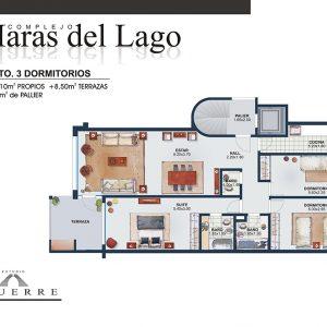 Plano de venta – Torre C – 3 dormitorios terraza ampliada
