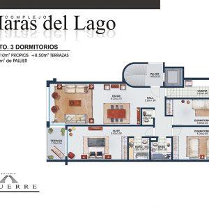 Plano de venta – Torre C – 3 dormitorios